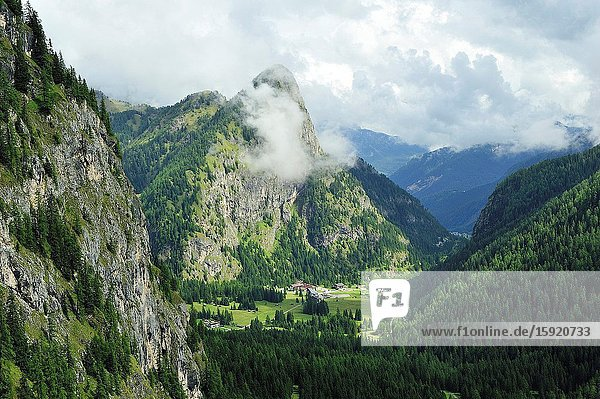 The Dolomites are a mountain range declared a UNESCO World Heritage Site. Trentino province  Italy