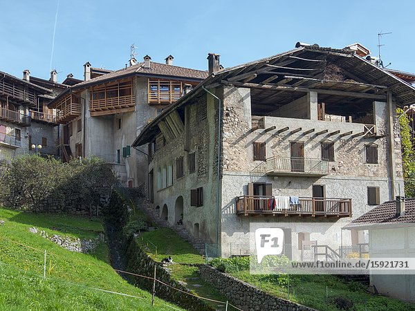 Dolaso  part of San Lorenzo Dorsino in the Dolomiti di Brenta  part of UNESCO world heritage Dolomites. Europe  Italy  Trentino