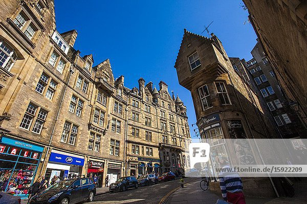 Victoria Street  Old Town  Edinburgh  Scotland  United Kingdom  Europe