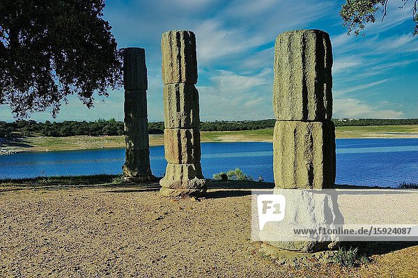 Roman remains of Augustobriga. Bohonal de Ibor town  Cáceres province  Spain