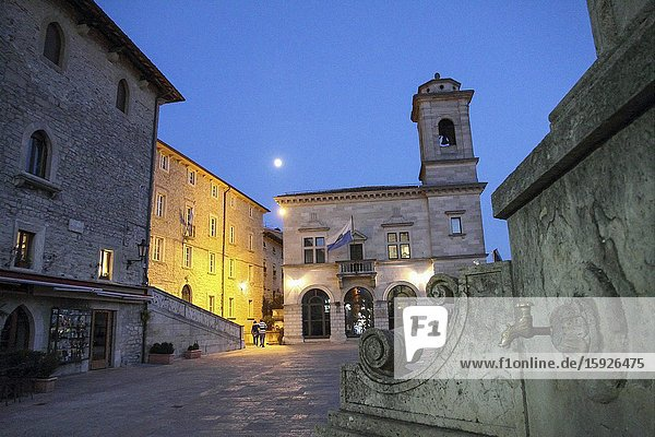 City hall square San Marino  Italy.