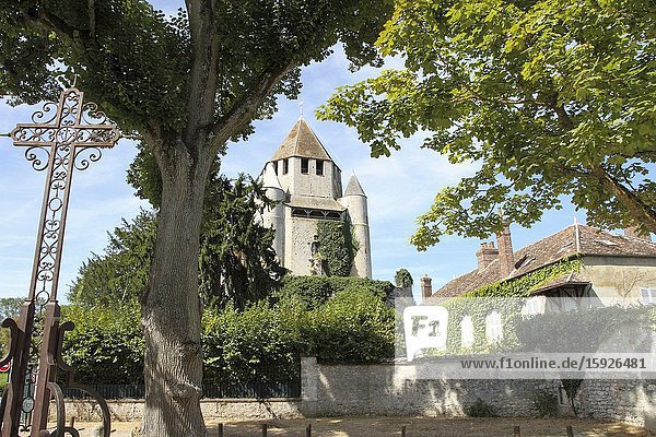 France  Paris region  Seine et Marne  Provins medieval city  tour Caesar Cesar tower.