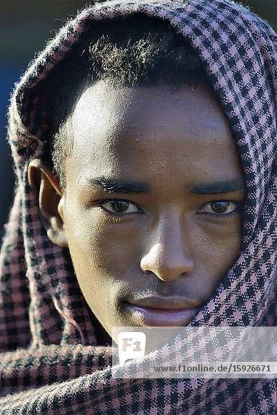 Ethiopia  Bahir Dar region  Tissisat village  Young man.