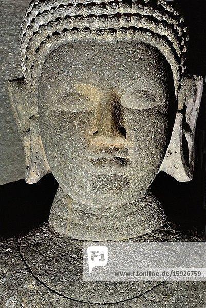 India  Maharashtra  World Heritage Site  Ajanta  Cave 11 . Buddha.