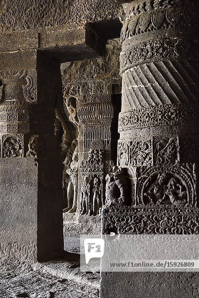 India  Maharashtra  World Heritage Site  Ellora  Cave 14.