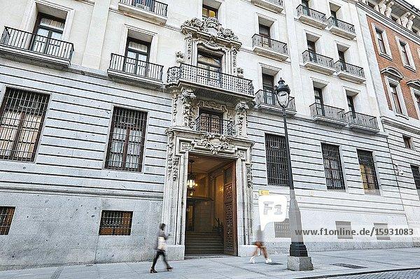 The 'Real Casa de la Aduana'  headquarters of the Spanish Ministry of Finance. Madrid  Spain.
