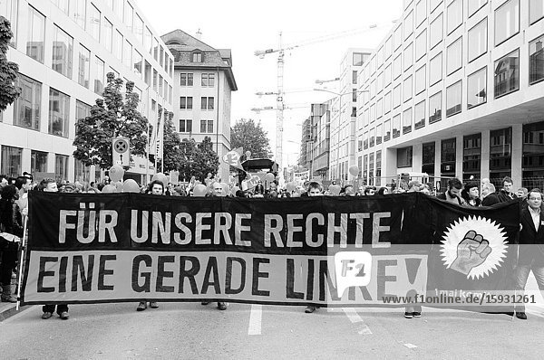 Zürich-City: Left-wing demonstration on the 1st of may.