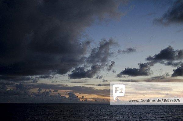 Sunset  Indonesia  Banda Sea.