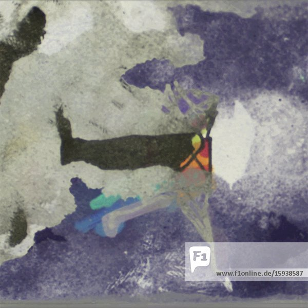 Leaping Lavender Girl Abstract Animation