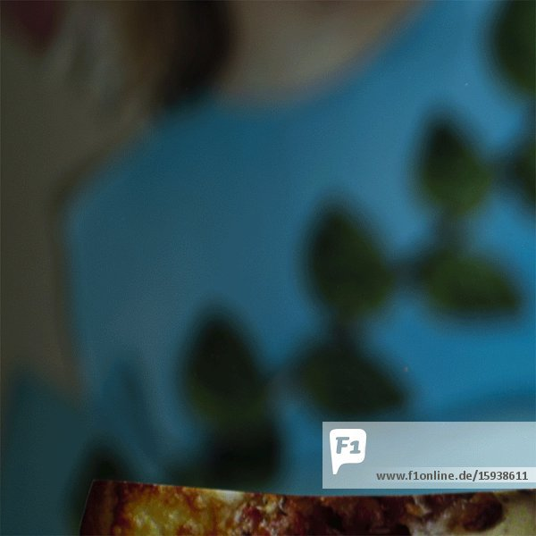 Abstract Girl Leaping over Food & Drink Montage  Close-up