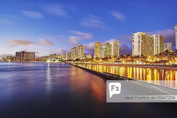 Kohi Beach  Waikiki  Oahu  Hawaii  USA