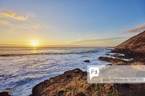 Kahe Point Beach Park  Oahu  Hawaii  USA