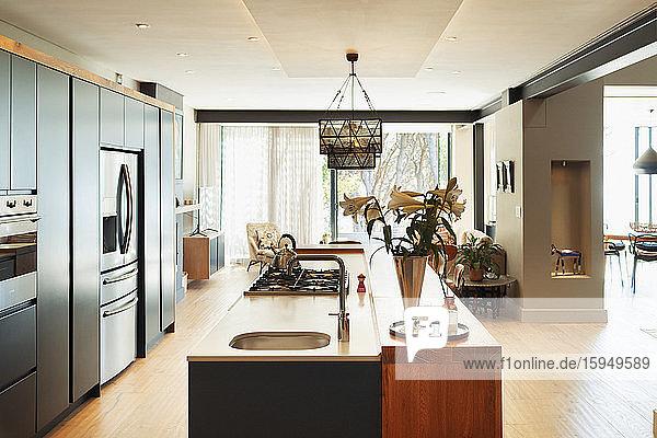 Moderne Wohnvitrine Innenküche