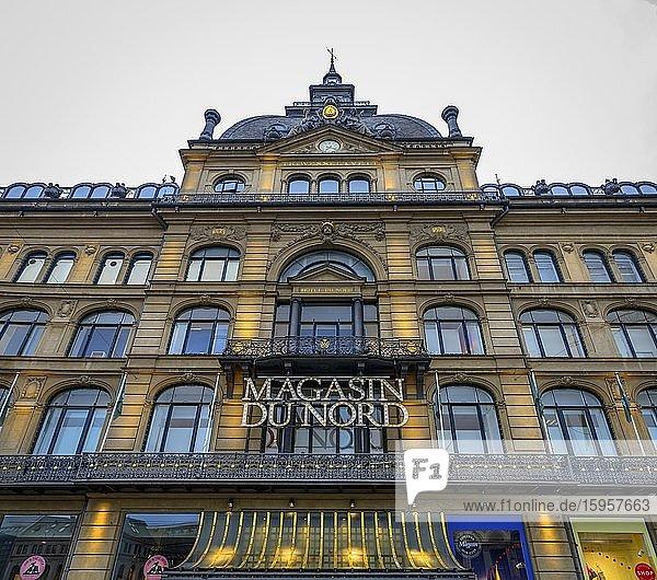 Entrance of the Magasin Du Nord  luxury department store  Copenhagen  Denmark  Europe
