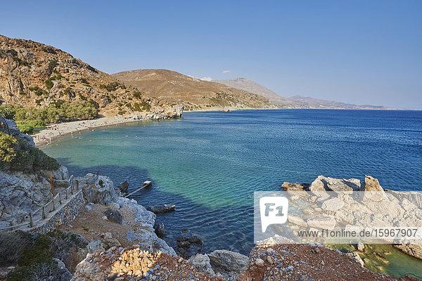 Küste  Preveli  Kreta  Griechenland  Europa