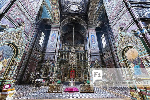 Inneres der Jelez-Kathedrale  Jelez  Gebiet Lipezk  Russland  Eurasien