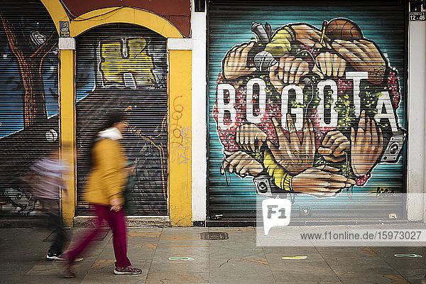 Wandmalerei  Bogota  Cundinamarca  Kolumbien  Südamerika