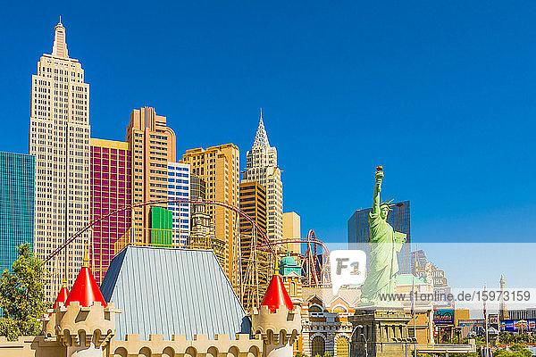 New York New York Hotel und Casino  Las Vegas  Nevada  Vereinigte Staaten von Amerika  Nordamerika
