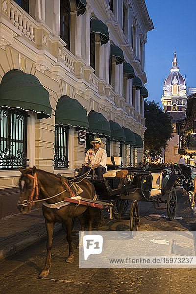 Kutschen  Cartagena  Abteilung Bolivar  Kolumbien  Südamerika