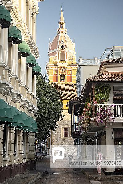 Kolonialarchitektur  Altstadt  UNESCO-Weltkulturerbe  Cartagena  Abteilung Bolivar  Kolumbien  Südamerika