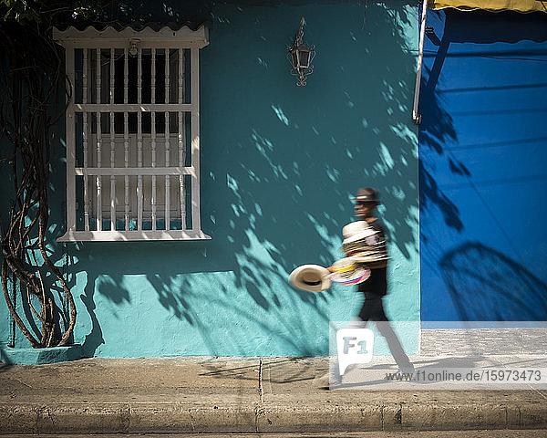 Straßenszene  Getsemani Barrio  Cartagena  Abteilung Bolivar  Kolumbien  Südamerika