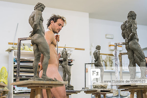Nude model during class Nude model during class