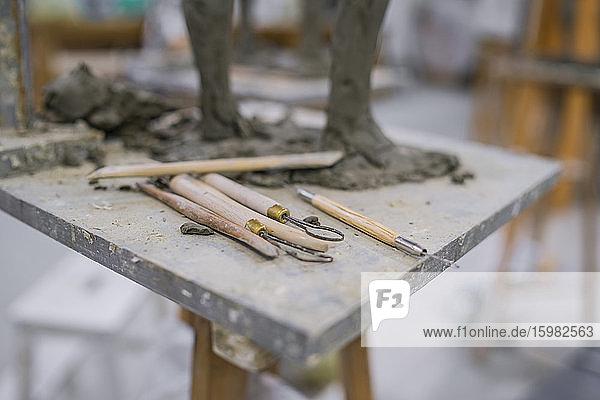 Different tools at sculpture Different tools at sculpture