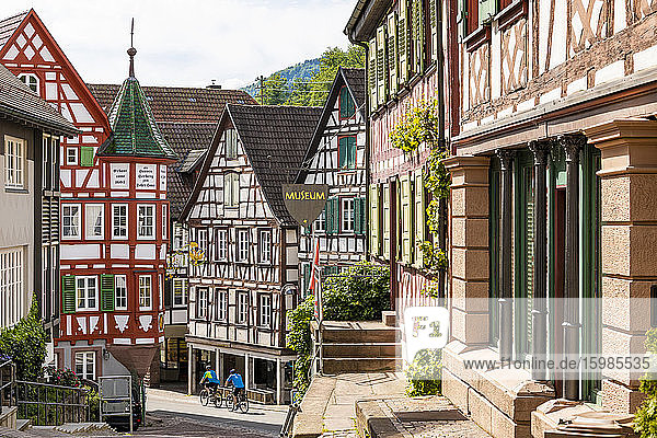Germany  Baden-Wurttemberg  Schiltach  Half-timbered town houses