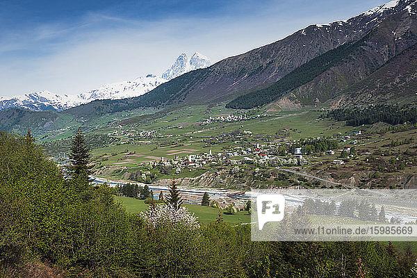 Georgia  Svaneti  Mestia  Medieval village in Caucasus Mountains