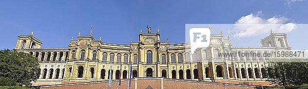Panorama  Maximilianeum  Bavarian Parliament  Munich  Bavaria  Germany  Europe