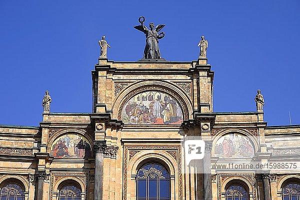 Maximilianeum  Bavarian Parliament  Detail  Munich  Bavaria  Germany  Europe