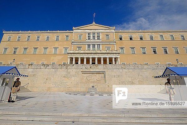 Old Royal Palace  house of Hellenic Parliament  Syntagma Square  Athens  Greece  Europe