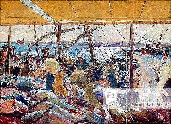 Joaqu?n Sorolla Y Bastida - Tunny Catch 1919.