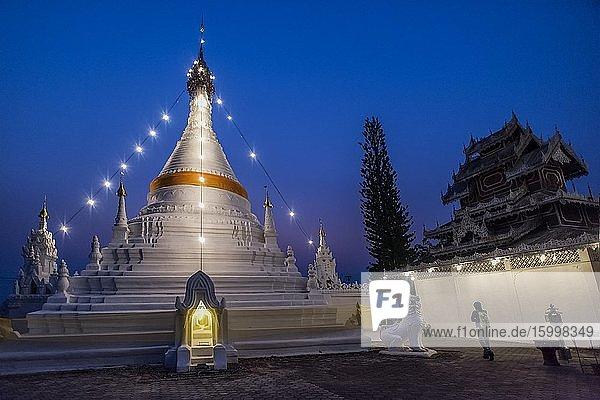 Wat Phra That Doi Kong Mu temple  Mae Hong Son  Thailand.