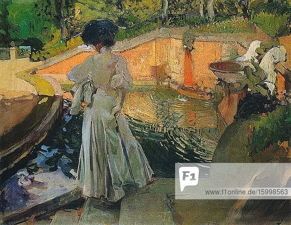 Joaqu?n Sorolla Y Bastida - Watching Fish 1907.