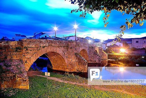 Stone bridge in Monforte de Lemos  Lugo  Spain