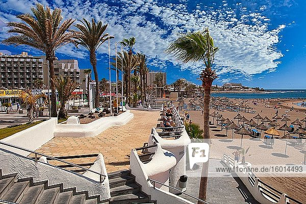 Playa de Las Americas  Beach  Tenerife  Canary Islands  Spain.