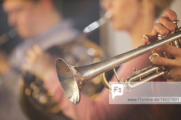 Trompeter beim Auftritt