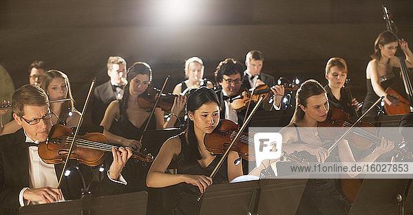 Auftritt des Orchesters