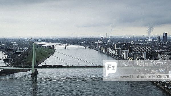 Bridges over Rhine River  Cologne  Germany