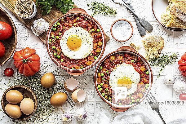 'Huevos a la flamenca' (Eier auf flämische Art)