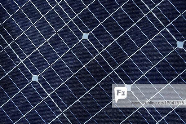 Nahaufnahme eines Solarpanels