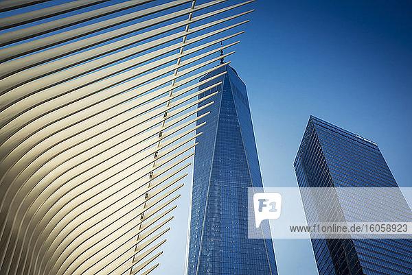Das Oculus  Verkehrsknotenpunkt des World Trade Center; Manhattan  New York  Vereinigte Staaten von Amerika