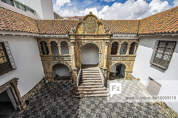 Courtyard of the Ethnography and Folklore Museum; La Paz  La Paz  Bolivia
