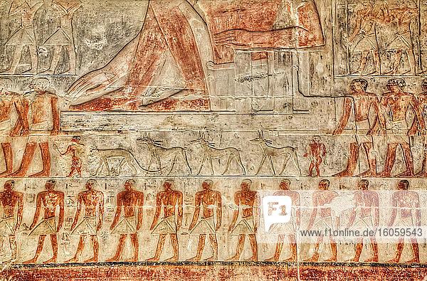 Reliefs  Mastaba of Mereruka  Necropolis of Saqqara  UNESCO World Heritage Site; Saqqara  Egypt