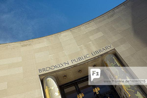 Brooklyn Public Library facade; Brooklyn  New York City  United States of America