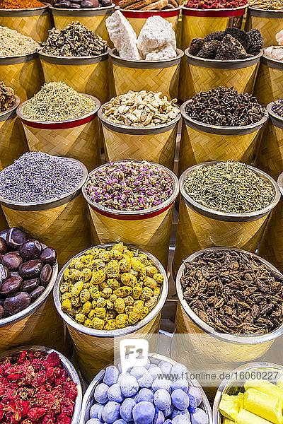 Spices at the Dubai Spice Souq; Dubai  United Arab Emirates