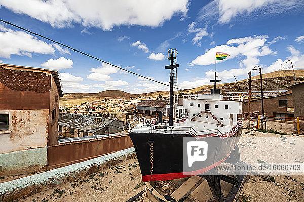Miniatur-Dampfschiff; Pulacayo  Abteilung Potosi  Bolivien