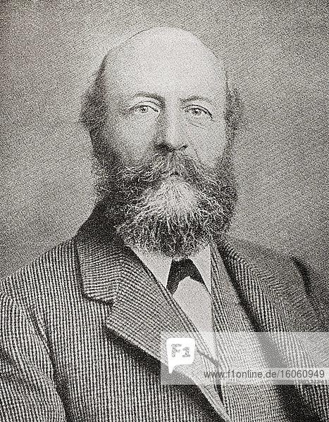 George Cadbury  1839 - 1922. Sohn von John Cadbury  der Cadbury's Kakao- und Schokoladenfirma gründete. Aus The Business Encyclopaedia and Legal Adviser  veröffentlicht 1907.
