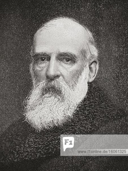 Sir John Tomlinson Brunner  1. Baronet  1842 - 1919. Britischer Chemieindustrieller und Politiker der Liberalen Partei. Aus The Business Encyclopaedia and Legal Adviser  veröffentlicht 1907.